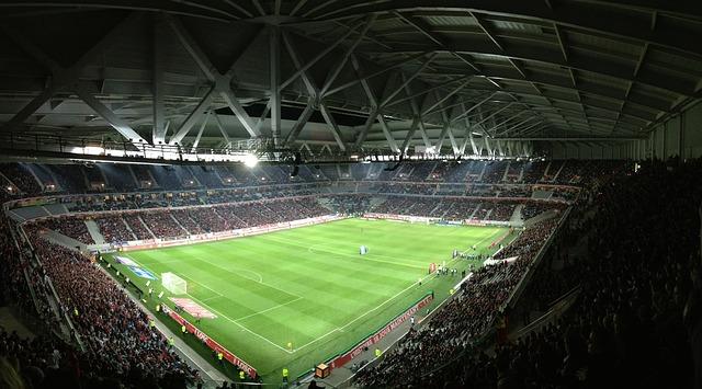 osvícený stadion